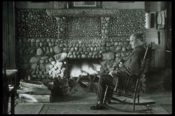 John Davey By Fireplace