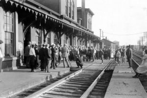 Erie Depot Movie Extras 1922